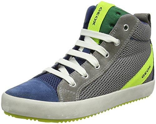 Geox Geox Jungen J Alonisso Boy A Hohe Sneaker, Grau (Grey/Dk Avio), 36 EU