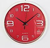 reloj cocina pared rojo