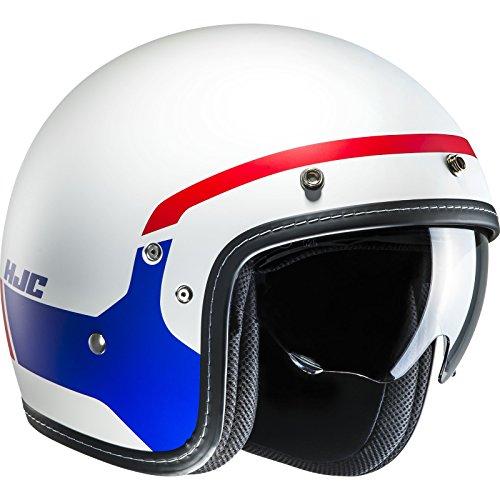 Hjc Motorrad-Jethelm Fg-70 Modik Rot-Blau (Large , Weiß)