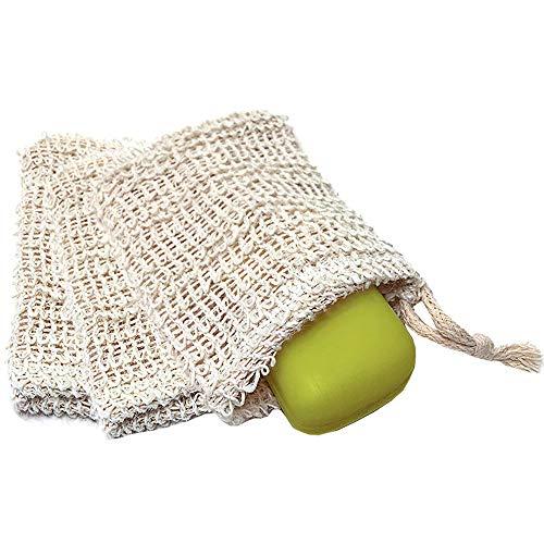 Zeep zakje - zeepzakje - scrub - douche - wasbaar - biologisch afbreekbaar - naturel - zak