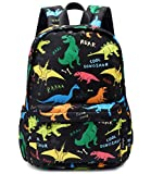 Ecodudo Little Kids Dinosaur Backpacks for Toddler Boys Preschool Backpack With Chest Strap (Colorful Dinosaur)