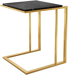 Gold Finish Side Table | EICHHOLTZ Cocktail | Modern Sophisticated Contemporary Stylish Gold Accent Table Perfect for Living Kitchen nightstand