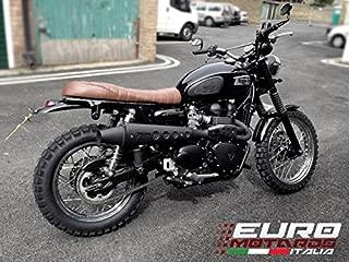 Triumph Scrambler Injection Zard Exhaust Full System High Mount Black Muffler