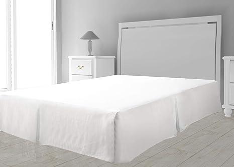 Intemporel - Cubre Somier de Microfibra, color Blanco, 140 x 190 cm