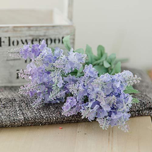 JUNMAONO Flores de Lavanda Natural, Fragante Ramo de Lavanda Seca 33cm de Largo, Flores Decorativas Ramo de Flores para La Decoración del Hogar, Regalo, Boda