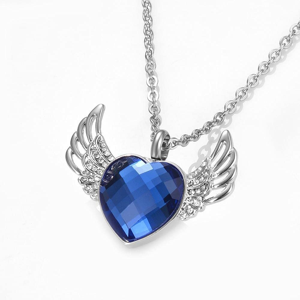 Angel Wings Love unisex Heart Cremation Necklace Memorial f Urn Jewelry List price