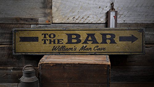 To The Bar Sign, Wooden Bar Sign, Custom Bar Sign, Custom Bar Decor, Bar Owner Gift, Man Cave Gift, HandMade Vintage Wood Sign Decor No Thank You 7