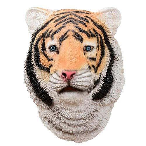 WWWL Mscara de Halloween Fiesta Cosplay Forma de Tigre Divertida Barra de ltex Props Disfraz Cabeza Tigre Mscara B