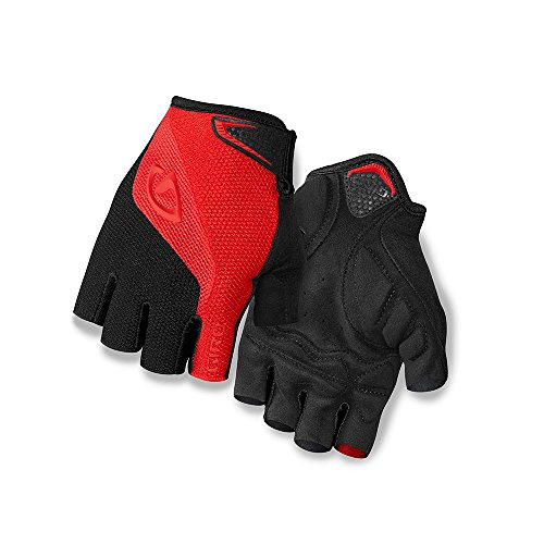 Giro Bravo Gel Men's Road Cycling Gloves - Red/Black (2017), Medium