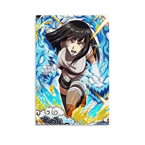 Naruto Anime, Hyūga Hinata, Anime Girl, Art Deco Poster Canvas Art Poster and Wall Art Picture Print Modern Family Bedroom Decor Posters 16x24inch(40x60cm)
