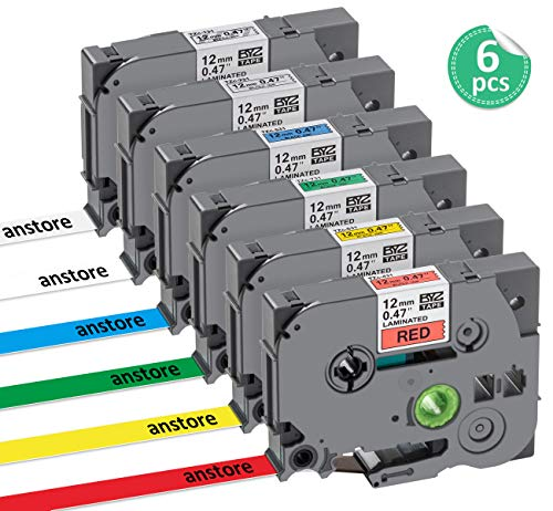 3x Schriftband TZ-131 TZe-131 12mm für Brother P-touch PT-H100LB 18R H110 D600VP