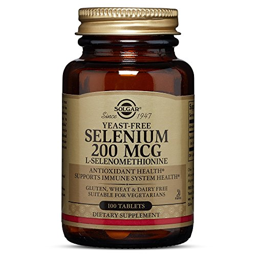 Solgar Yeast-Free Selenium 200 mcg, 100 Tablets - Supports Antioxidant & Immune System Health - Non-GMO, Vegan, Gluten Free, Dairy Free, Kosher - 100 Servings