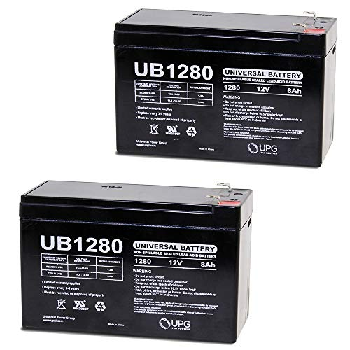 Universal Power Group 12V 8AH Razor Dune Buggy 25143511 Battery - 2 Pack (Battery Only - Reuse existing Connector)