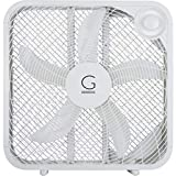 Genesis Box Fan, 3 Settings Max Cooling Technology, Carry Handle, 20 inch, White...