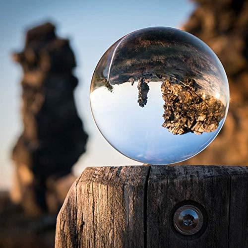 Kristallkugel 80mm - Super Klarer - K9 Glaskugel Fotografie Zubehör, Schneekugel Lensball Wahrsagerkuge Hexenkugel Dekoration Geschenk für Freund