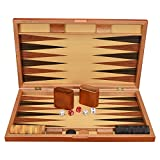 MIAOGOU ajedrez Internacional Bacarat De Madera Ajedrez Y Backgammon Set 19 Pulgadas Backgammon Western Land War Ajedrez