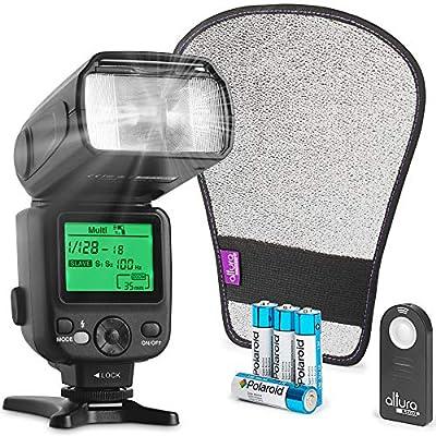 Altura Photo AP-UNV2 Bundle DSLR and Mirrorless Camera Flash Speedlite for Canon Nikon Sony Olympus Panasonic