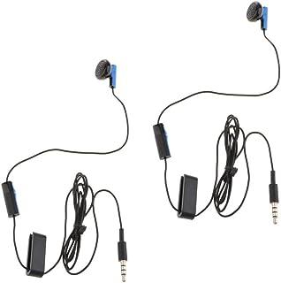 #N/A 2 stycken Mono Wired Earphones Mono Earphones för bärbara kontroller