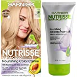 Garnier Nutrisse Ultra Color Hair Color and Anti-Brass Treatment, LB1 Ultra Light Cool Blonde, Pack of 1