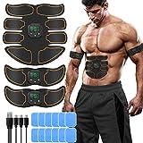 SUNGYIN EMS Muskelstimulator bauchtrainer ABS Trainingsgerät Professionelle USB Elektrostimulation Elektrisch Bauchmuskeltrainer Fitnessgürtel für Damen Herren (8 Pads)