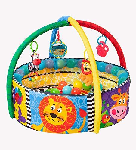 Playgro 0184007 4in1 Erlebnis-Bällebad und Spielmatte, mehrfarbig