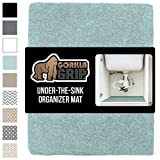 GORILLA GRIP Original Premium Under Sink Mat Liner, 24x40, Non-Adhesive Absorbent Organizer Mats, Durable and Strong Waterproof Shelf Liners for Under Kitchen Sinks, Bathroom, Laundry Room, Spa Blue