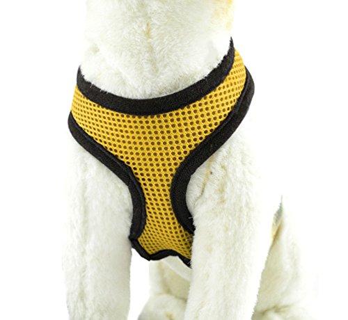 YiJee Haustier Hund Sommer Bekleidung Sicher Kontrolle Hundegeschirr Welpen Vest Harness Gelb L
