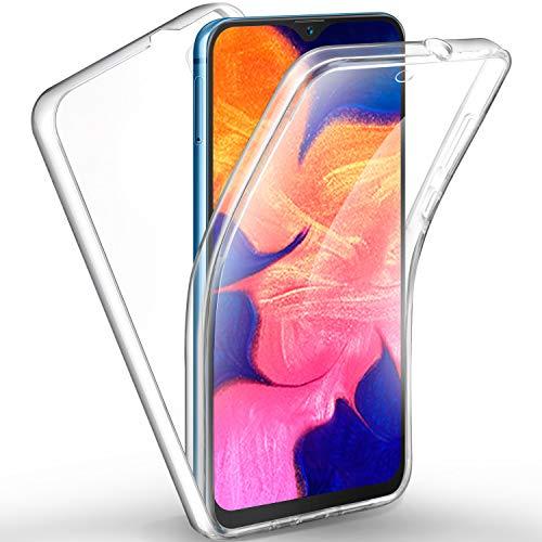 AROYI Cover Samsung A10, Samsung Galaxy A10 Custodia Transparent Silicone TPU e PC 360 Full Body Protettiva Premium Resistente Ai Graffi Case Cover per Samsung Galaxy A10