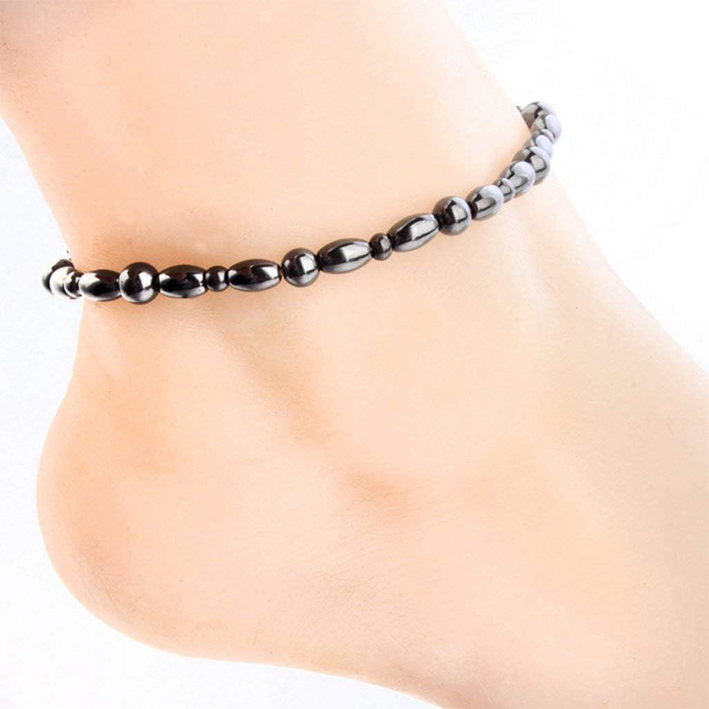 Women Men Magnetic Anklet Hematite Ankle 2021 spring and summer Brand Cheap Sale Venue new Stone Health Bracelet