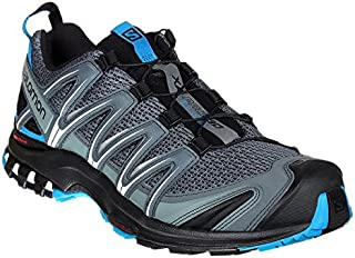 Men's XA PRO 3D Trail Running Shoe, Stormy Weather/Black/Hawaiian Surf, 8.5 M US