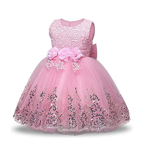LZH bébé Fille Robes Robe de soirée Princesse Robes pour fête Anniversaire Mariage Tutu Princesse Fleur Robe en Dentelle