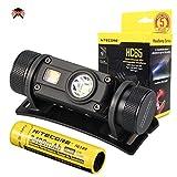 NITECORE HC65 - Linterna Frontal Alta Potencia - 1000 Lumenes Resistente al Aqua - Linterna Frontal Luz Roja - LED para Deporte Trabajar Pesca ([ Batería recargable 3400 mAh incluido ])