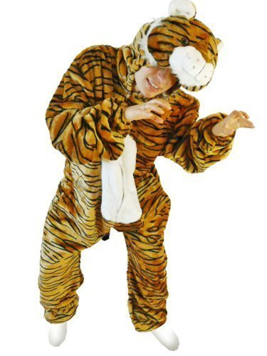 Tiger-Kostüm, F14 Gr. M, Fasnachts-Kostüme Tier-Kostüme, Tiger-Faschingskostüm, für Fasching Karneval Fasnacht, Karnevals-Kostüme, Faschings-Kostüme, Geburtstags-Geschenk Erwachsene