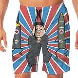 メンズ 水着 朝鮮 ろけっと 大統領 金正恩 ショート・ハーフパンツ サーフパンツ 海水パンツ ボードショーツ 水陸両用 吸汗速乾 人気