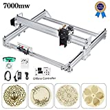 S SMAUTOP Kits de graveur laser bricolage CNC, Graveur laser de bureau 12V USB Carver,40X30CM Imprimante laser ajustable...