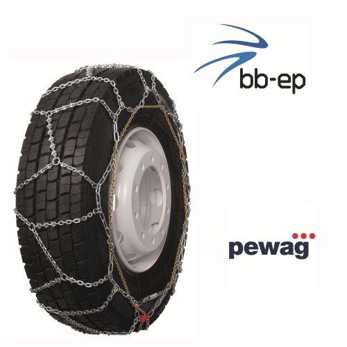 Pewag Omnimat Bague – bewährte Arceau de montage rapide à chaîne à neige spécialement conçu pour bus et facile de camion avec la pneus Taille 305/70 R19.5 – Certifié TÜV avec ö Norme V5119 – Si il aller vite.