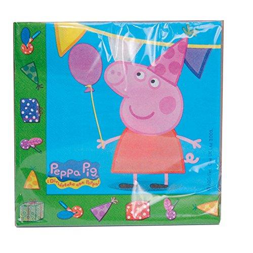 Peppa Pig 0921, Pack 20 servilletas de Papel, Fiestas y cumpleaños, Producto de Papel