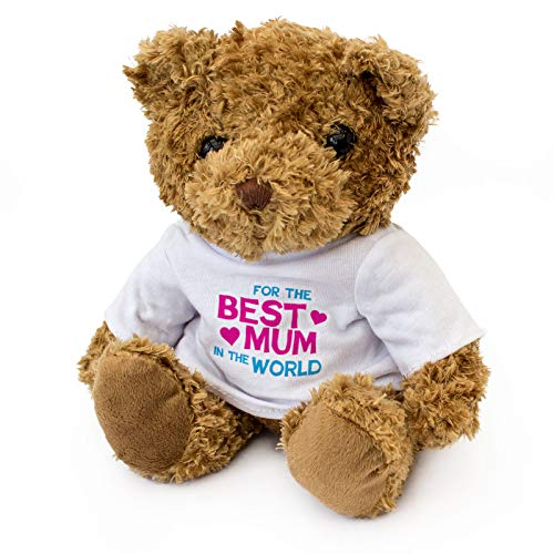 NEW - Best Mum In The World Teddy Bear - Cute And Cuddly - Present Gift For...