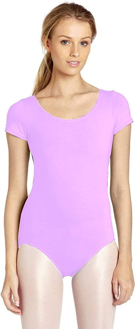 DanceNwear Adult Cotton Blend Short Sleeve Department store Leotard Max 50% OFF
