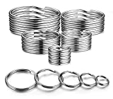 YHYZ Split Key Ring Circle Assorted, Metal Keyring Durable in 5 Sizes (Small 1/2 inch, 3/4 inch,1...