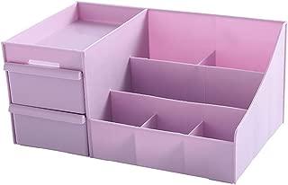 Drawer Type Cosmetics Storage Box Desktop Dressing Table Plastic Box Lipstick Rack (Size: 30 * 12 * 17cm) (Color : Purple, Size : 30 * 12 * 17cm)