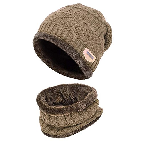 Aruny Winter Hat Hat and Scarf Sets for Men   Women Fall Winter Hat Double 9ca940362bc0