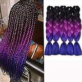 Ombre Braiding Hair Kankalon Synthetic...