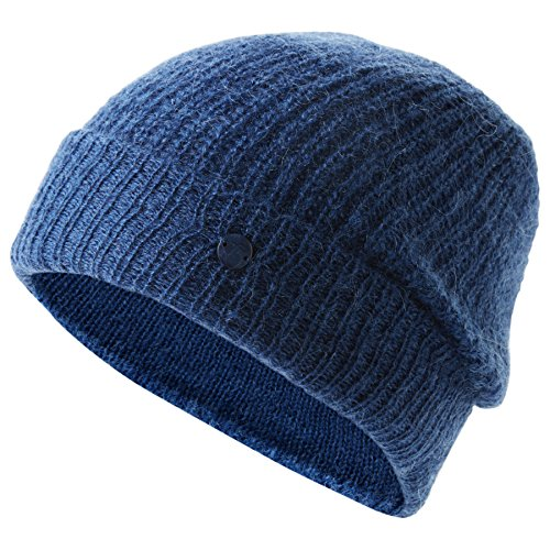 TOM TAILOR Damen Hairy Knit Beanie Strickmütze, Blau (Medium Blue 6783), One Size