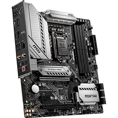 MSI MAG B460M Mortar Intel LGA1200 DDR4 M2 USB 32 Gen 1 HDMI 25GB LAN M ATX Gaming Motherboard