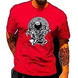 Camiseta Hombre Manga Corta Cuello Redondo Estampados Creativos Tops Hombre Verano Regular Fit Básica Shirt Hombre Ligero Cómodo Absorber El Sudor Camiseta Hombre