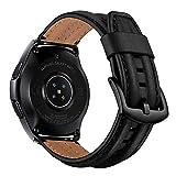 AISPORTS Cinturino per Orologio a Sgancio Rapido da 20mm Compatibile con Samsung Galaxy Watch 42mm Cinturino in Pelle, Cinturino di Ricambio per Vintage per Samsung Galaxy Watch 3 41mm/Active 2/Active