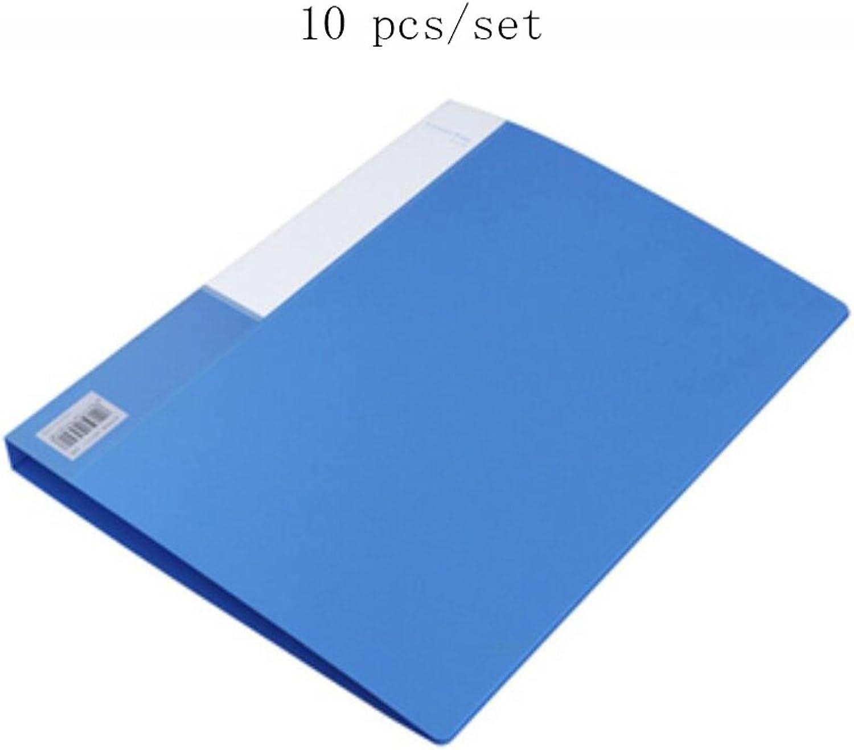 Liu Yu·Büroflächen, Büro Schreibwaren liefert A4 blau PP Ordner Business Business Business Finishing Ordner 10 Stück   Set B06XR7M1WV | Sale Düsseldorf  f61199