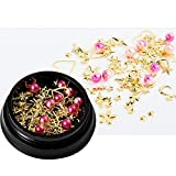 1 Mix box Set Star Moon Resina UV Epoxy Molde Cobre Redondo Remache Lentejuelas Adornos de diamantes Para joyería-Brillante