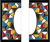 Número y letras para casa, Cerámica Pintada a Mano 5 x 11 cm md trencadis, Grabado y Cerámica Española (PACK DE 2 unida)